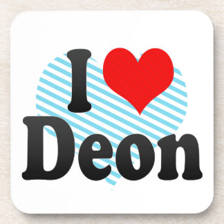 I love Deon Beverage Coaster