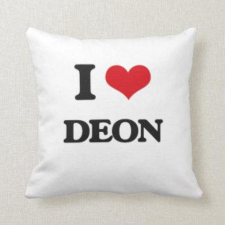 I Love Deon Throw Pillow