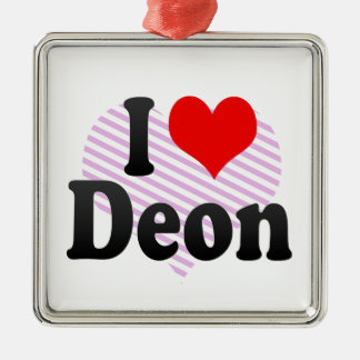 I love Deon Christmas Ornament