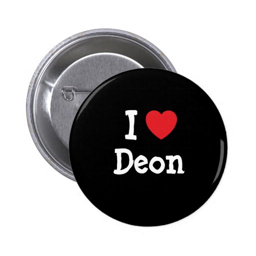 I love Deon heart custom personalized Pinback Buttons