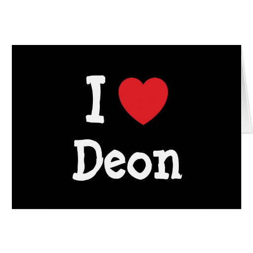 I love Deon heart custom personalized Card