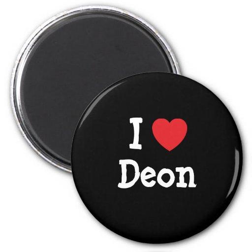 I love Deon heart custom personalized Magnet