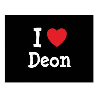 I love Deon heart custom personalized Post Card