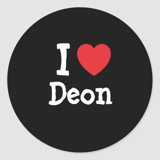 I love Deon heart custom personalized Round Stickers