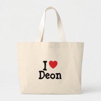 I love Deon heart custom personalized Canvas Bags