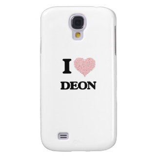 I Love Deon (Heart Made from Love words) Galaxy S4 Case
