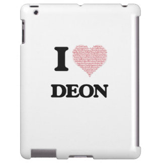 I Love Deon (Heart Made from Love words) iPad Case