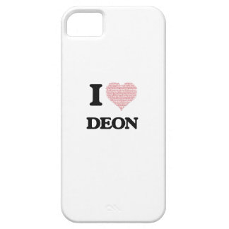 I Love Deon (Heart Made from Love words) iPhone 5 Cover