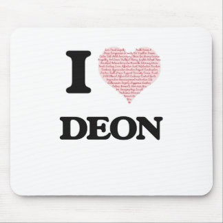 I Love Deon (Heart Made from Love words) Mouse Pad