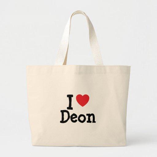 I love Deon heart T-Shirt Canvas Bag