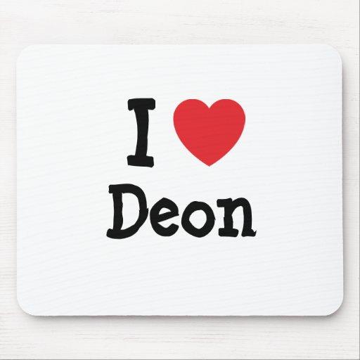 I love Deon heart T-Shirt Mouse Mats