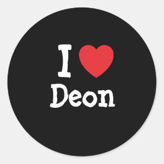 I love Deon heart T-Shirt Sticker