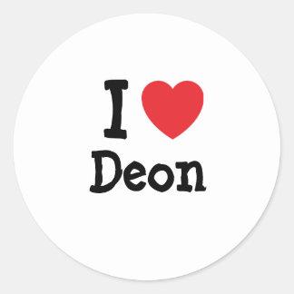 I love Deon heart T-Shirt Round Stickers