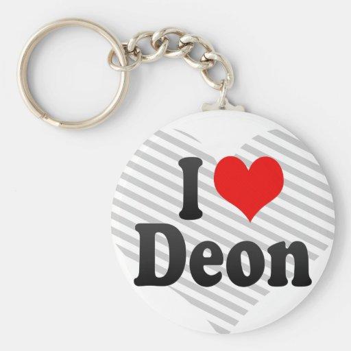 I love Deon Key Chain
