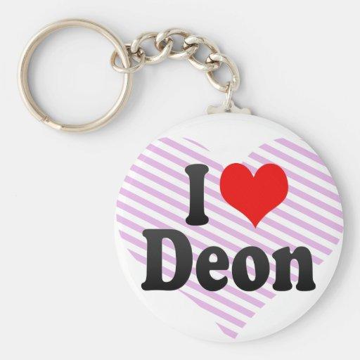 I love Deon Keychain