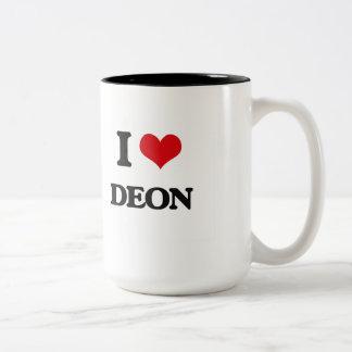 I Love Deon Two-Tone Mug