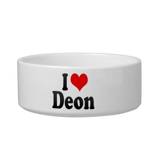 I love Deon Pet Bowl