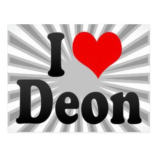I love Deon Post Card
