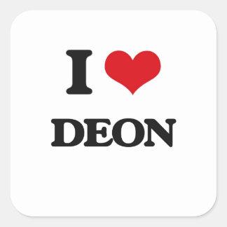 I Love Deon Square Sticker