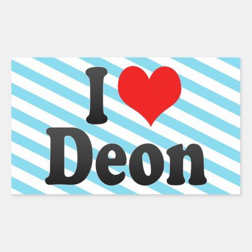 I love Deon Rectangular Stickers