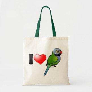 I Love Derbyan Parakeets Tote Bag