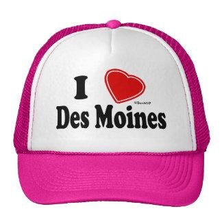 I Love Des Moines Cap