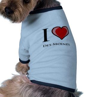 I Love Des Moines Dog Tee Shirt