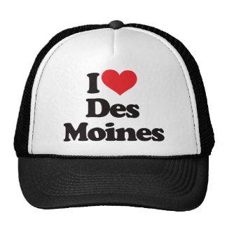 I Love Des Moines Mesh Hats