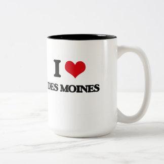 I love Des Moines Two-Tone Coffee Mug