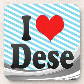 I Love Dese Ethiopia Drink Coaster