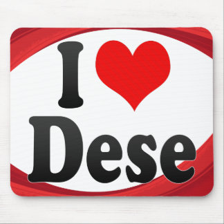 I Love Dese Ethiopia Mouse Pad