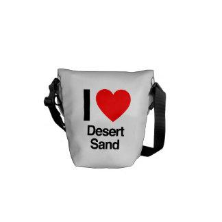 i love desert sand courier bag