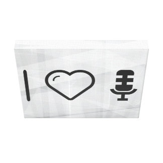 I Love Desk Bulbs Gallery Wrapped Canvas