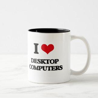 I love Desktop Computers Coffee Mugs