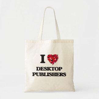 I love Desktop Publishers Budget Tote Bag