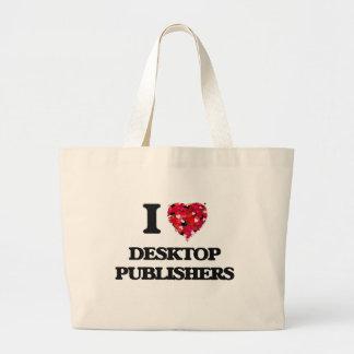 I love Desktop Publishers Jumbo Tote Bag
