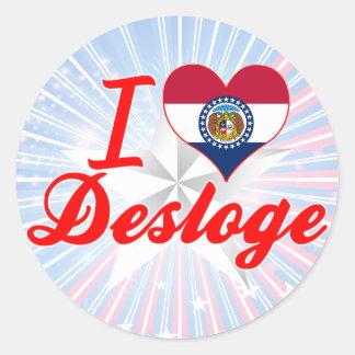 I Love Desloge, Missouri Stickers
