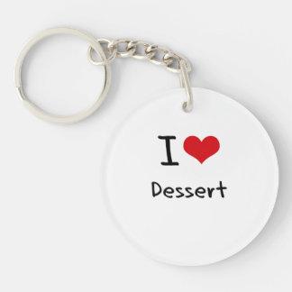 I Love Dessert Double-Sided Round Acrylic Key Ring