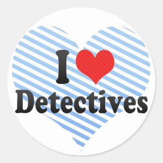I Love Detectives Sticker
