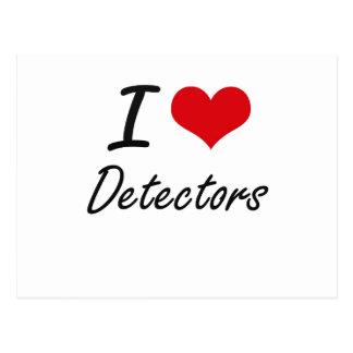 I love Detectors Postcard
