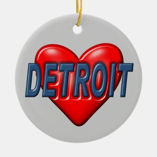 I Love Detroit Christmas Ornament