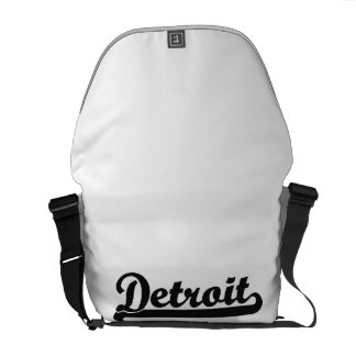 I love Detroit Michigan Classic Design Courier Bags