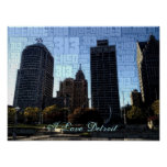 I love Detroit Poster - downtown from Hart Plaza
