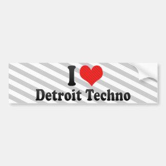 I Love Detroit Techno Car Bumper Sticker