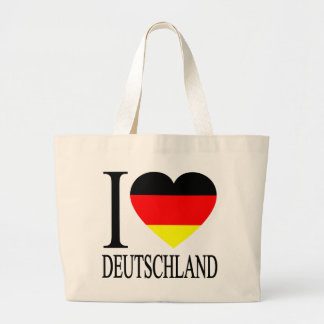 I Love Deutschland Germany German Flag Heart Bag