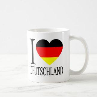 I Love Deutschland Germany German Flag Heart Basic White Mug