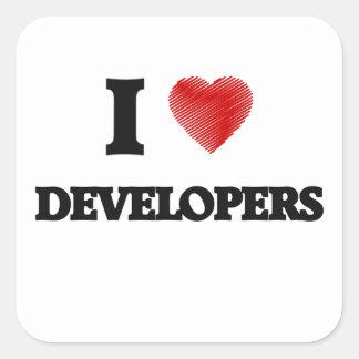 I love Developers Square Sticker