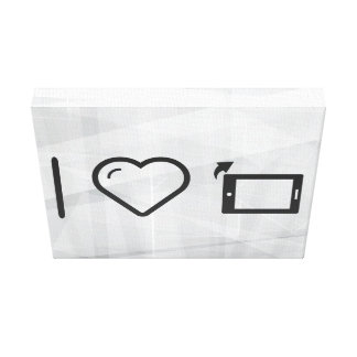 I Love Device Tablets Canvas Print
