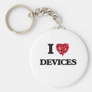 I love Devices Basic Round Button Key Ring