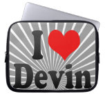 I love Devin Laptop Computer Sleeves
